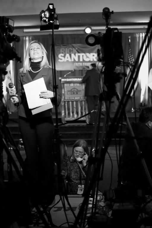 Nate Howard Photography: Iowa Caucus, Rick Santorum